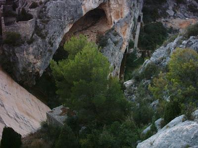Pantano ,embalse, Pena ,Beceite ,frontera ,Valderrobres, cueva 2