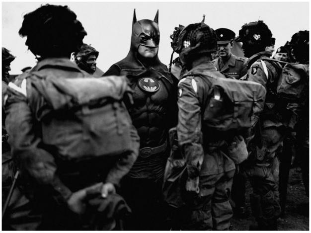 Batman fotomontaje  vintage