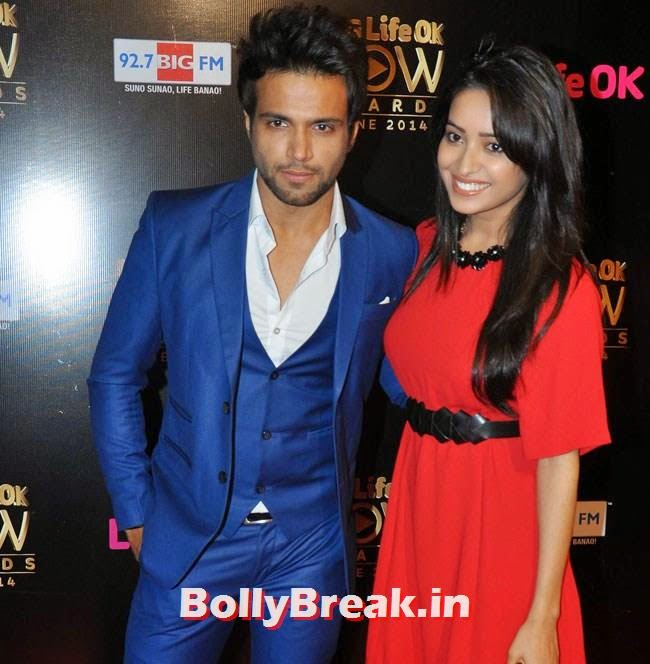 Rithvik Dhanjani and Asha Negi, Life OK Now Awards 2014 Red Carpet Pics