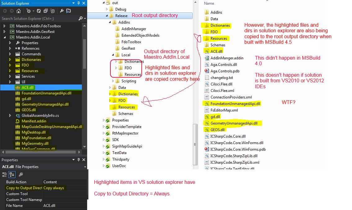 The Map Guy(de): MSBuild gotcha in  net Framework 4 5