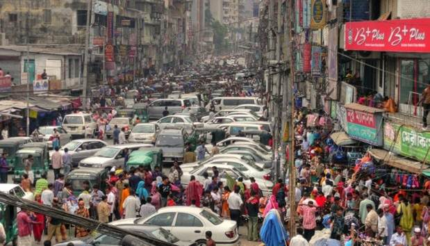 Congested Indian city