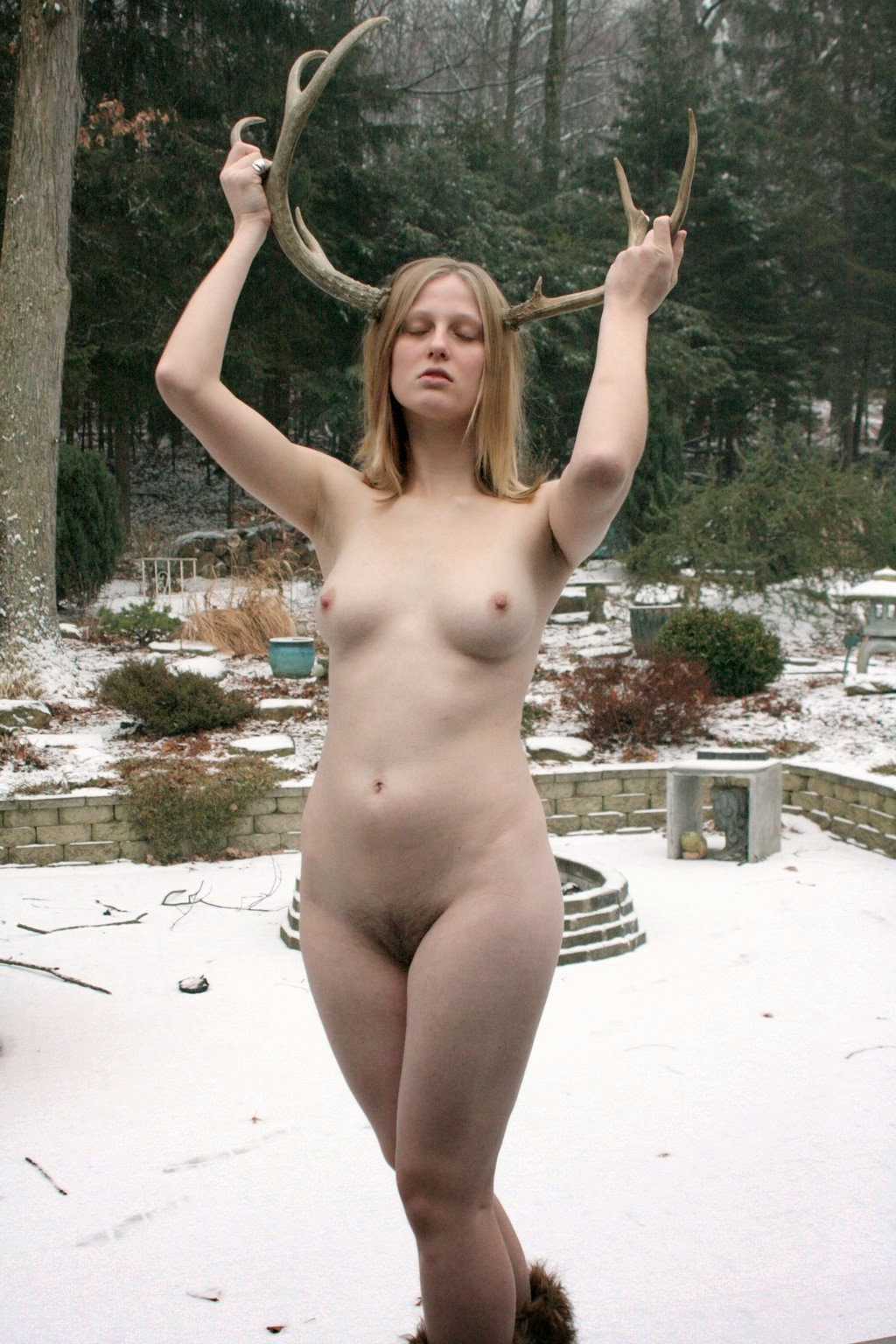 Nude Female Fauns Cosplay-1668