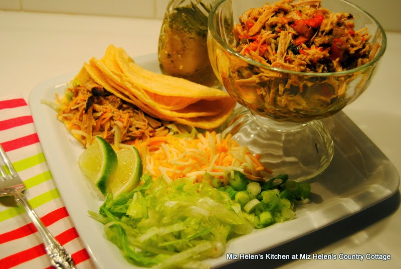 Carnitas Pork Tacos at Miz Helen's Country Cottage