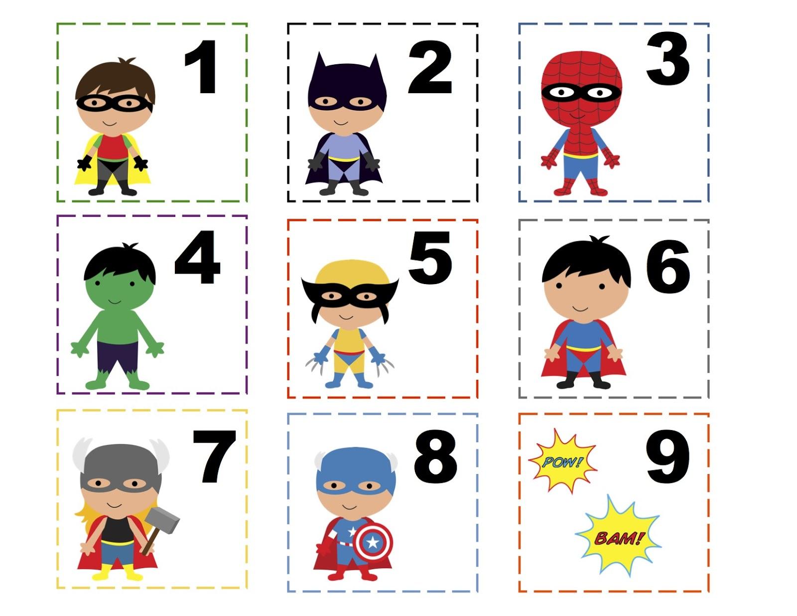 Free Printable Super Hero Symbols