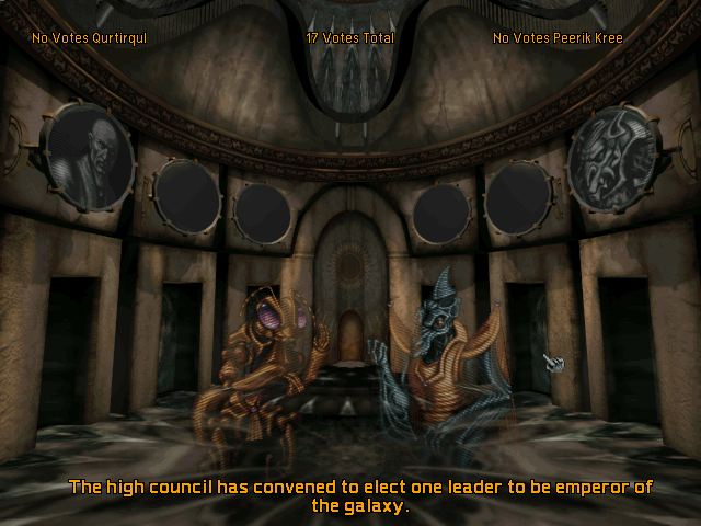Screenshot of High Council in Master of Orion II