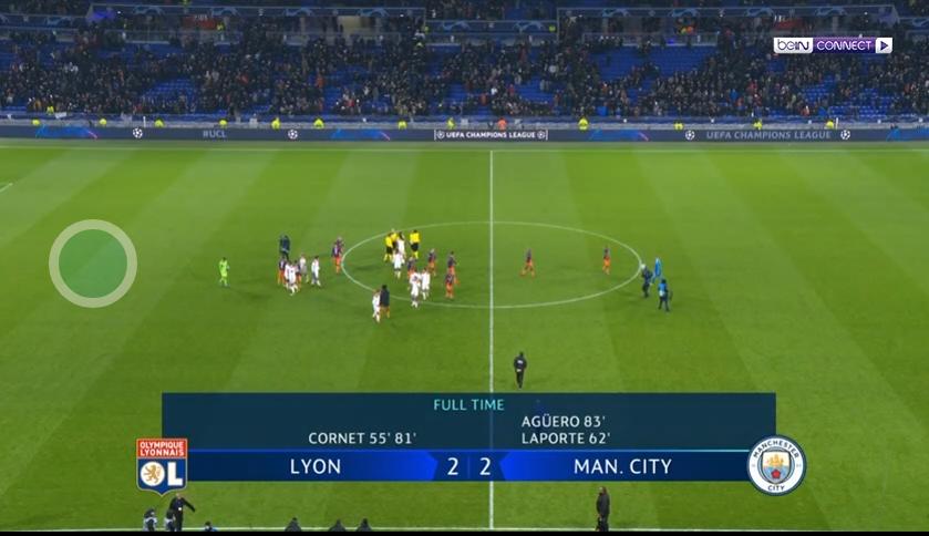 فيديو : مانشستر سيتي يتعادل مع ليون ويتأهل  إلى ثمن النهائي  شاهد الملخص والاهداف