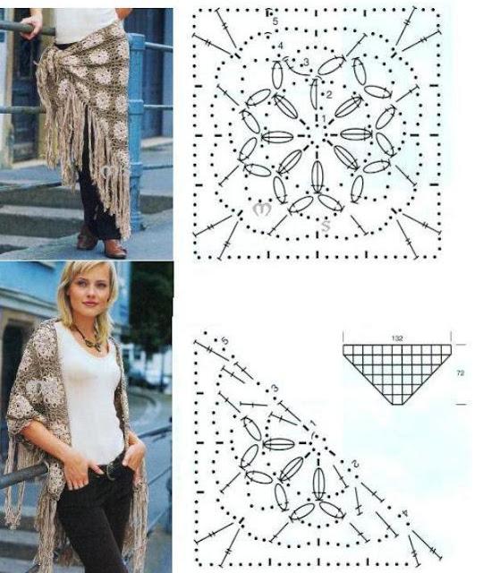 Chal Multifuncion de Crochet