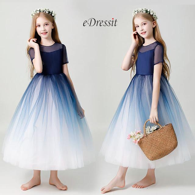 Open Back Children Wedding Flower Girl Dress