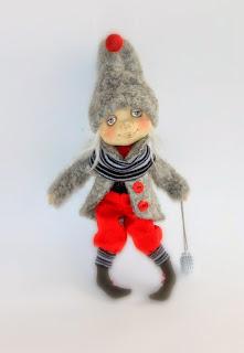 текстильная кукла ручной работы, новогоднее украшение