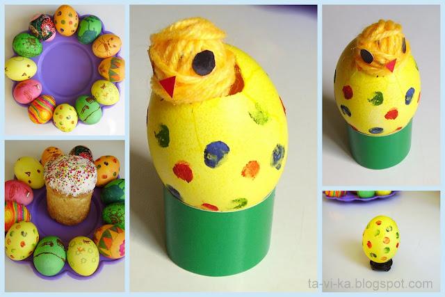 поделки из пасхальных яиц