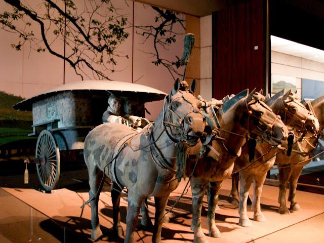 Carro del ejjército de terracota en el Museo de Shanxi