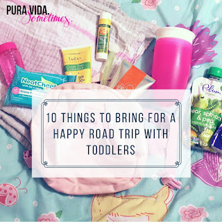 10 Things to Bring for a Happy Road Trip with Toddlers on Pura Vida. Sometimes.
