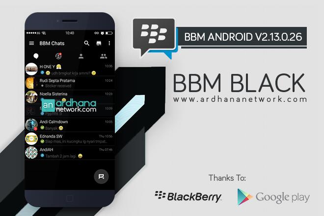 BBM Black V2.13.0.26 - BBM MOD Android V2.13.0.26
