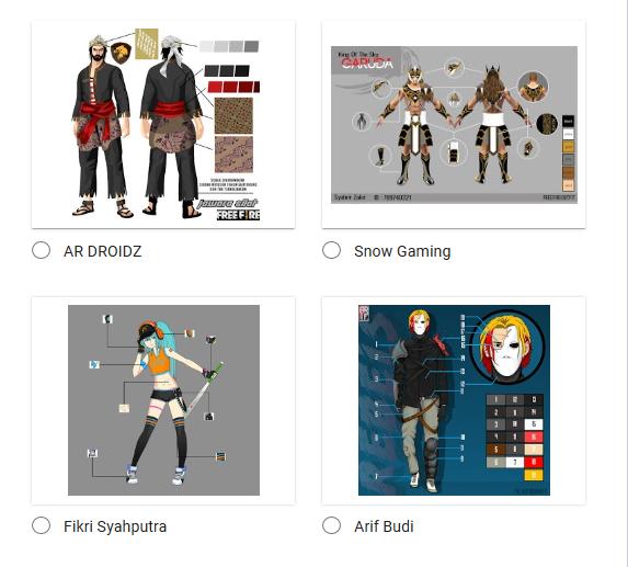 Vote Design FF & Tentukan Pemenang Free Fire Design Contest Vote
