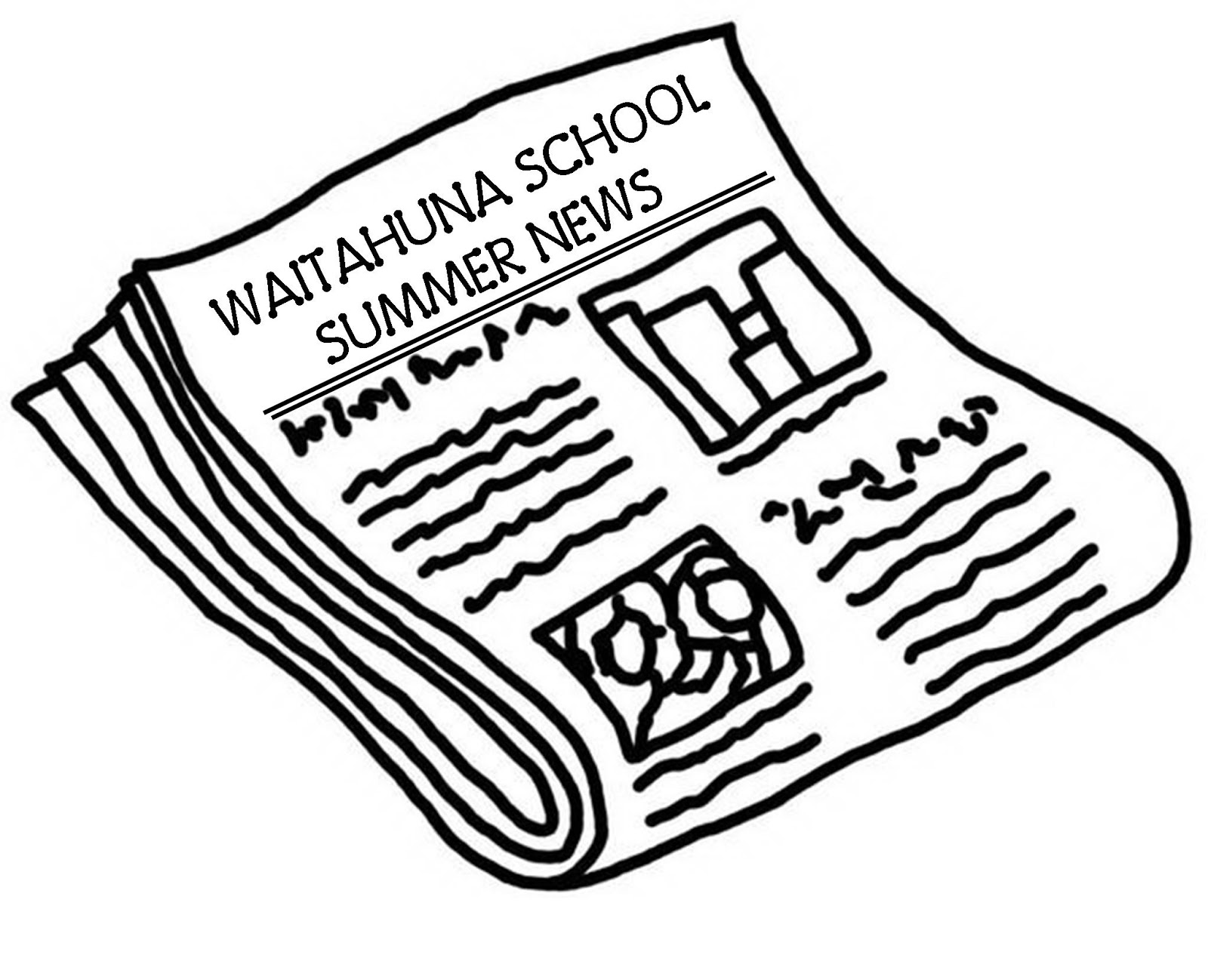 Waitahuna School First Edition Of Our School Newspaper