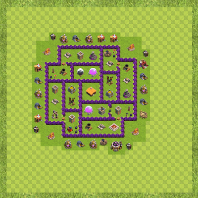 War Base Town Hall Level 7 By Dimosthenis Pittas (Farm TH 7 Layout)