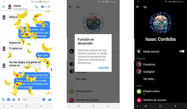 Facebook Messenger finalmente obtiene el modo