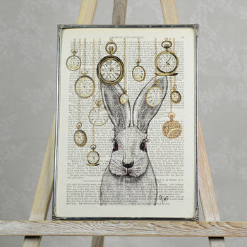 Print, Art, Inspiration, Books, Literary, Bookish, Alice in Wonderland, Quote, Not on the High Street, Home and Glory, The Writing Greyhound, Lorna Holland