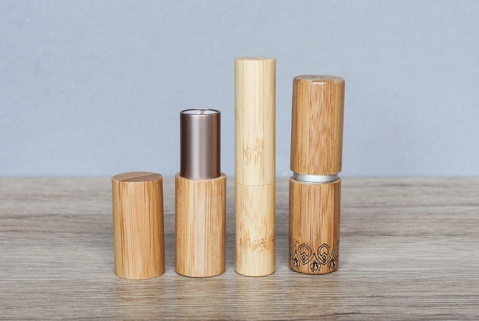 Bamboo packaging, makeup beauty products