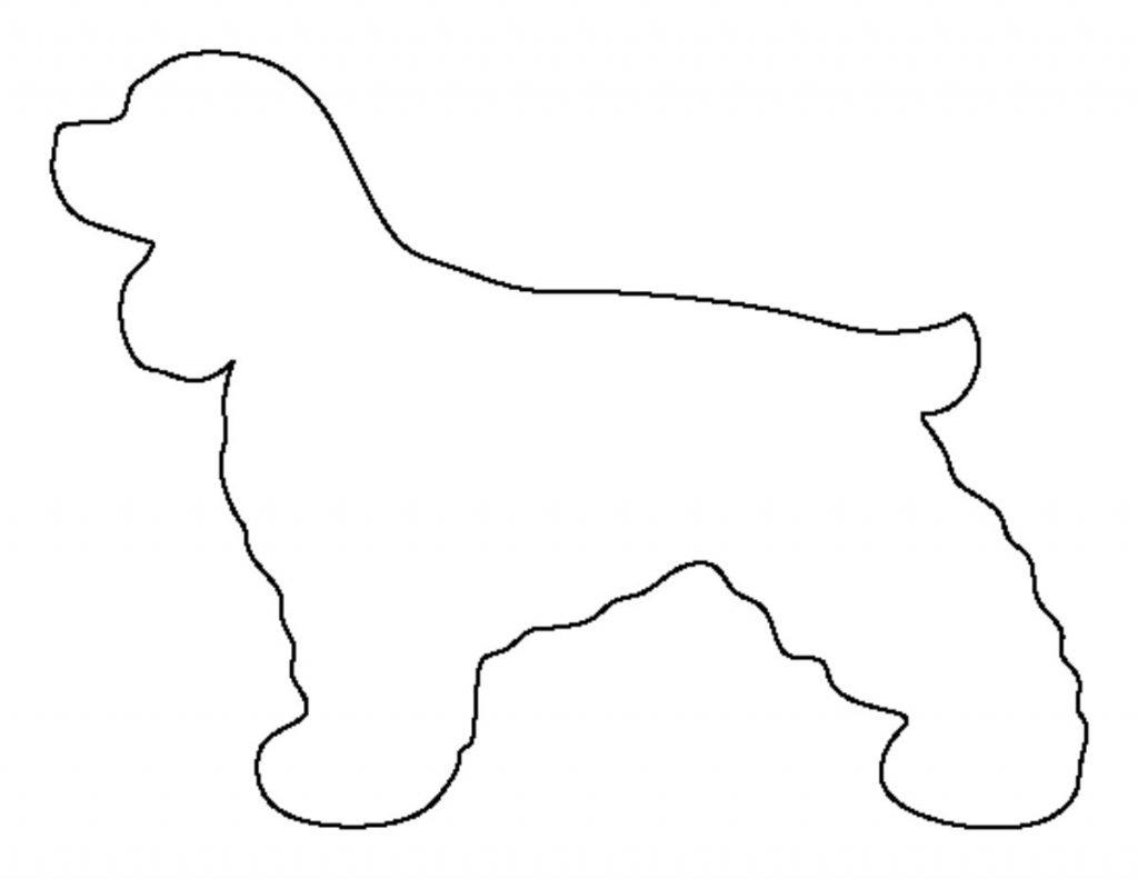 Шаблон для открытки щенок