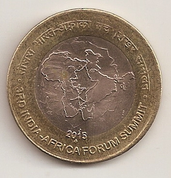 UNC LOT 100 COINS OF INDIA-AFRICA SUMMIT /& 50 COINS # NATIONAL ARCHIVES 10 Rs