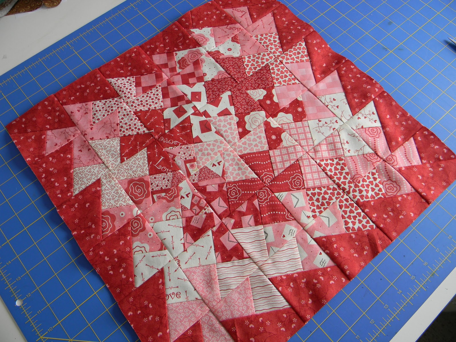 Ribbon Candy Quilt Company Twisted Valentine Tutorial