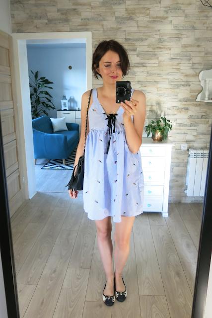Stripes Lace Up Casual Dress | Sukienka
