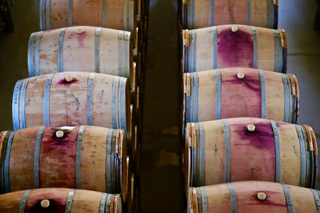 port and wine barrels, douro, portugal