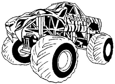 Gambar mewarnai monster truck - 6