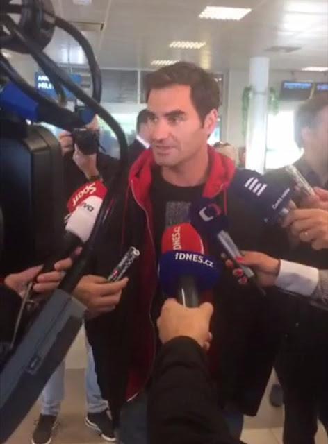 Roger Federer Arrived to Prague
