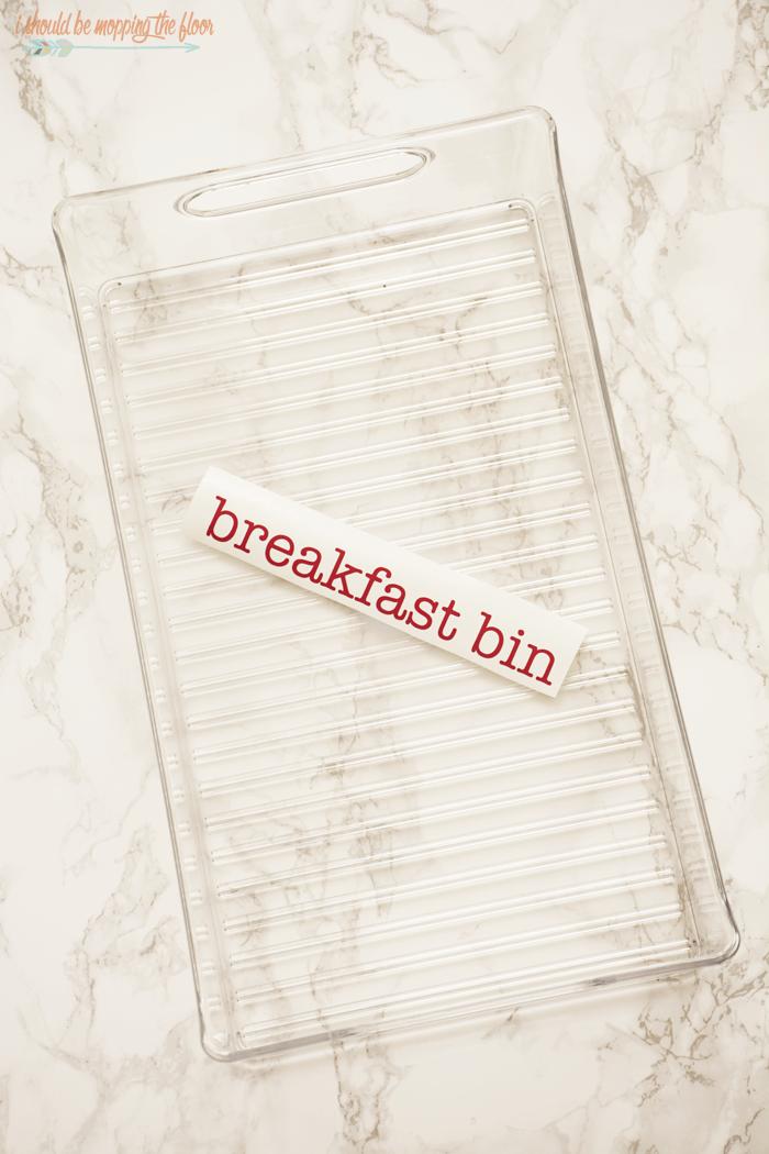 I Should Be Mopping The Floor Refrigerator Breakfast Bin