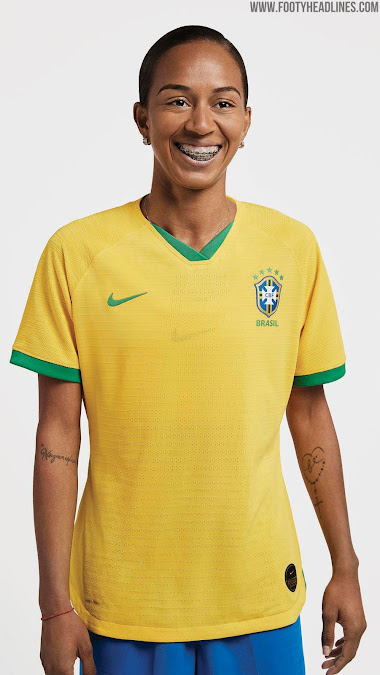 size 40 58f72 d00a9 Brazil 2019 Women's World Cup Home Kit Revealed - Footy ...