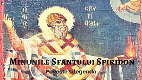 Sfantul Spiridon legende