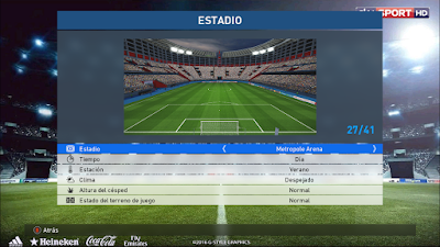 PES 2017 Europe & Peru Stadium Pack Collection