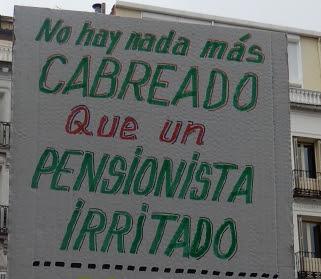 pancarta cuyo lema se repite en el cuerpo del post