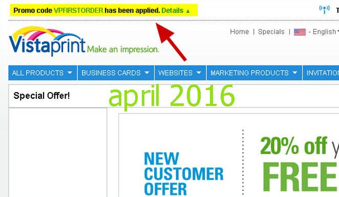 Vistaprint coupon uk