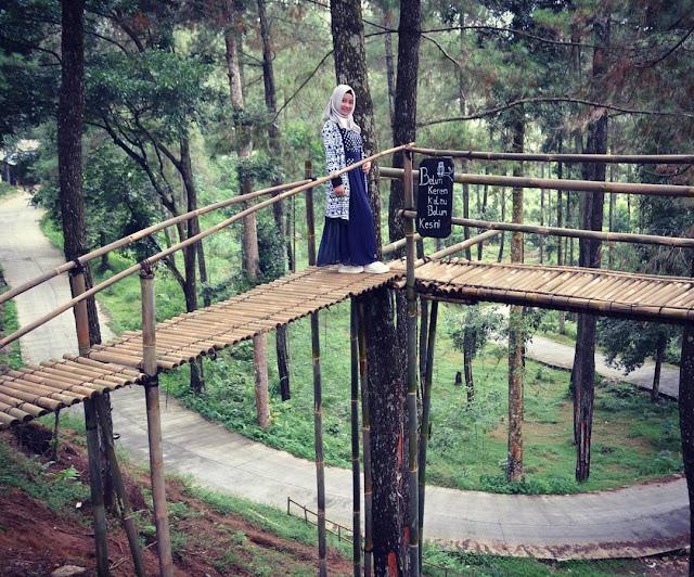 Jembatan Bambu, Canopy Bridge Agro Wisata Sikembang Kembanglangit Blado Batang