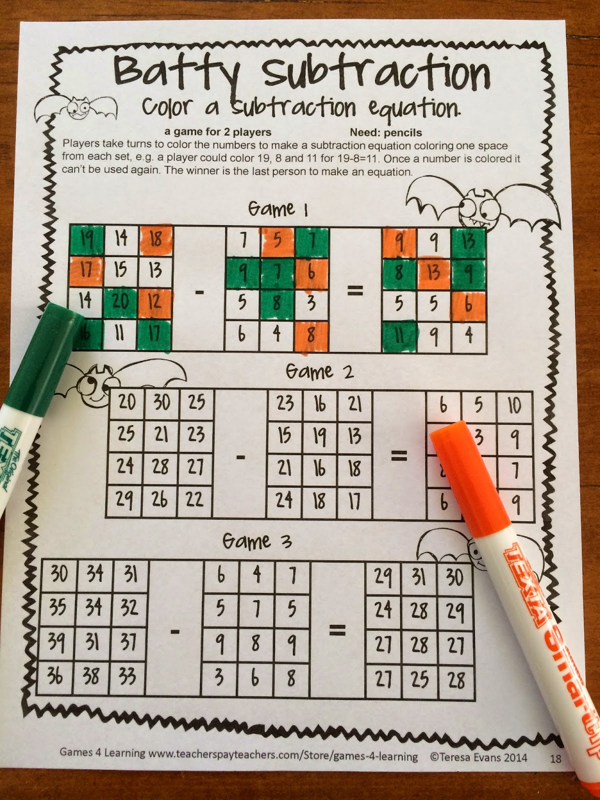 Fun Games 4 Learning Halloween Math Fun