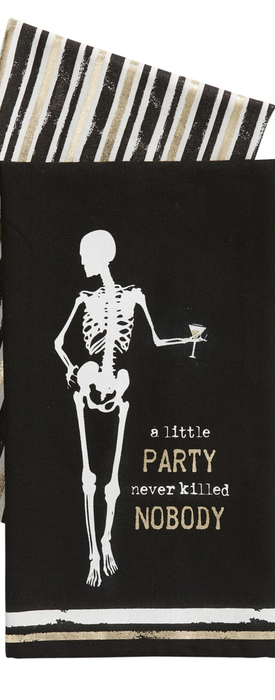 Levtex A Little Party Never Killed Nobody Set of 2 Dishtowels