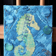 Seahorse Mixed Media Canvas ~ Christine & Co.