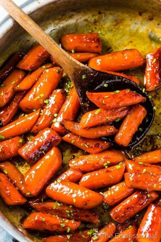 Spicy Honey Roasted Carrots