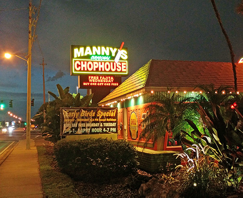 Manny's Chophouse serves Certified Angus Beef and fun