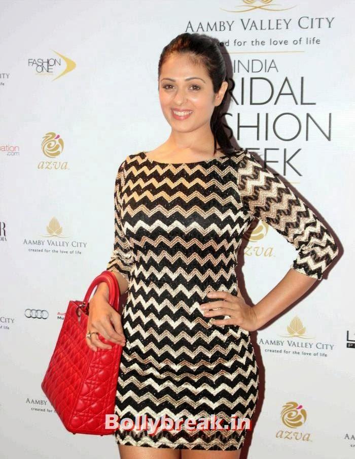 Anjana Sukhani, Hot Celebs at India Bridal Fashion Week 2013
