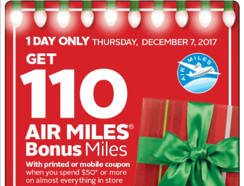 Rexall Pharma Plus 110 Air Miles Bonus Miles Coupon