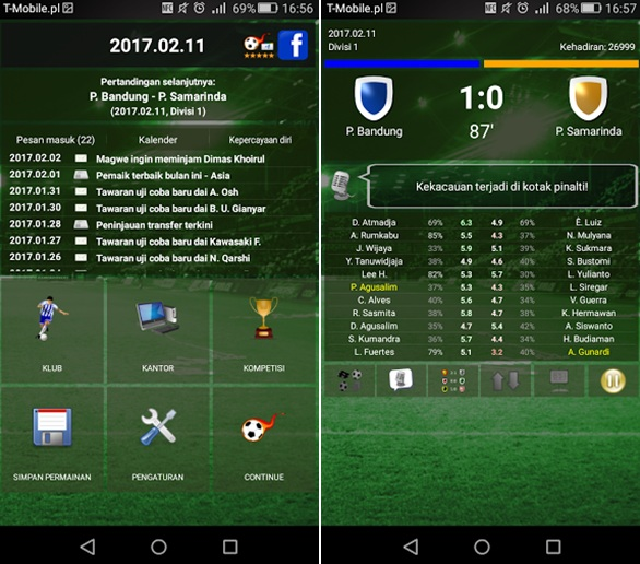Top 9: Game Football Manager Offline di Android (Terbaik
