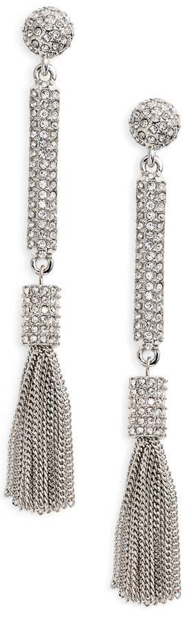 Vince Camuto Pavé Tassel Earrings