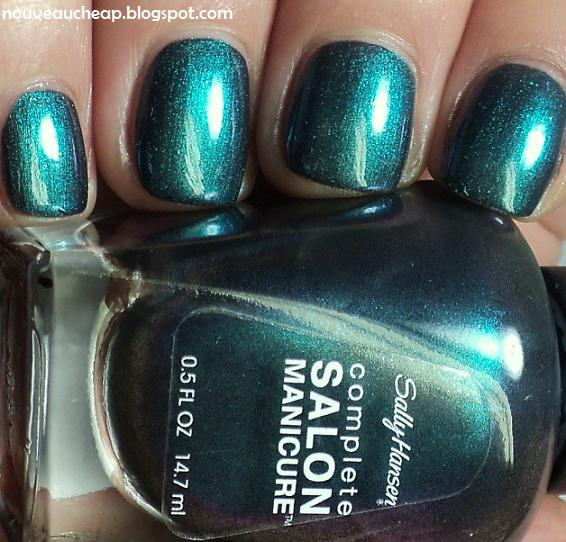 Review And Swatches New Sally Hansen Complete Salon Manicure Nail Color In Black And Blue