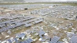 Hurricane Destroys Solar Farm in Puerto Rico (Credit: Bob Meinetz) Click to Enlarge.