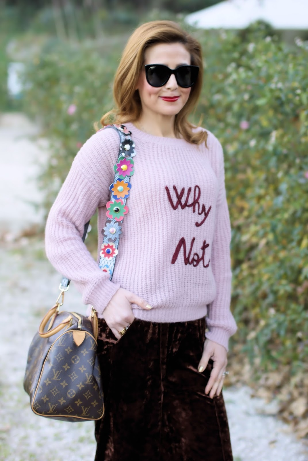 Louis Vuitton bag, Dixie sweater on Fashion and Cookies fashion blog, fashion blogger style