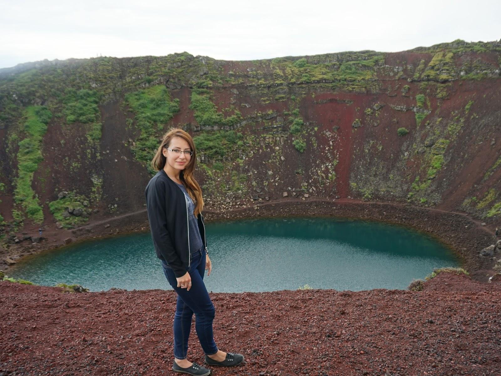Krater Kerið, jezioro Kerið, jezioro islandzkie, wulkan, wygasły wulkan, wulkany na Islandii, południowa Islandia